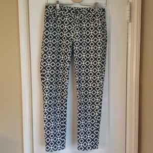 J. Crew Cropped Geometric Pants